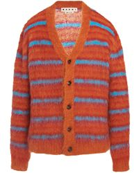 Marni - Striped Mohair Cardigan - Lyst