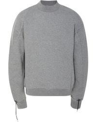 OAMC - Drawstring Cotton-jersey Crewneck Sweatshirt - Lyst