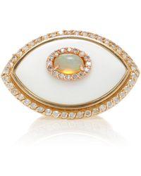 Marlo Laz - Eyecon Diamond And 14k Gold Ring - Lyst