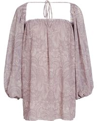 We Are Kindred - Constance Bishop Sleeve Blouse - Lyst
