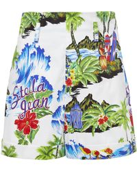 Stella Jean - High Rise Hawaiian Shorts - Lyst