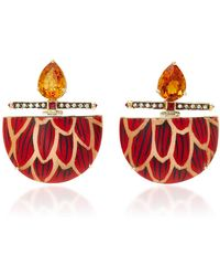 Silvia Furmanovich - Marquetry Scale Demi Lune Drop Earrings - Lyst