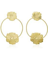 Valentina Rosenthal | 18k Gold-plated Chinita Oro Hoop Earrings | Lyst