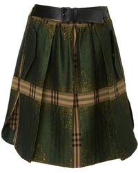 Alberta Ferretti - Pleated Mini Skirt - Lyst