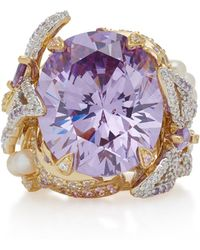 Anabela Chan - Lilac Swallowtail 18k Gold Vermeil Multi-stone Ring - Lyst