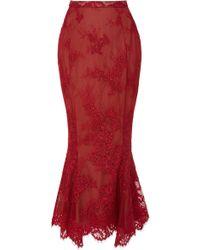 Marchesa - M'o Exclusive: Floral Mermaid Skirt - Lyst