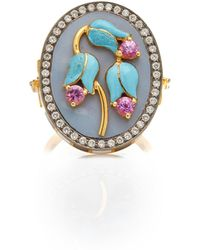 Holly Dyment - Triple Flower Ring - Lyst