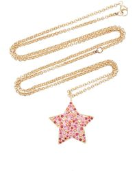 She Bee - 14k Gold And Sapphire Star Pendant Necklace - Lyst