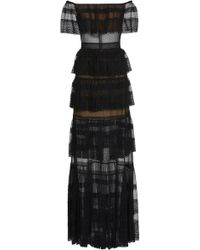 Zuhair Murad - Tulle & Lace Off The Shoulder Dress - Lyst