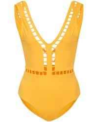 OYE Swimwear - Ela Plunge One Piece Swimsuit - Lyst