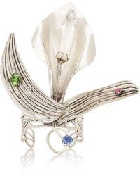 Rodarte - Calla Lily Wrist Cuff With Swarovski Crystals - Lyst