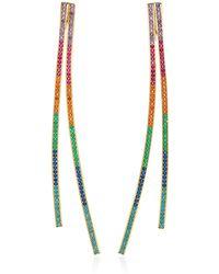 Joanna Laura Constantine | Gold-plated Rainbow Crisscross Earrings | Lyst