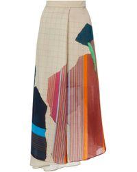 Akris - Wool Georgette Print Skirt - Lyst