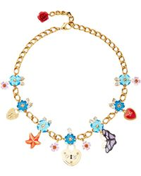 Dolce & Gabbana | Crystal Charms Necklace | Lyst