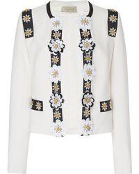 Elie Saab - Embroidered Crepe Jacket - Lyst