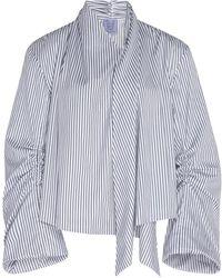 Thierry Colson - Tallulah Stripe Cotton Silk Blend Jacket - Lyst