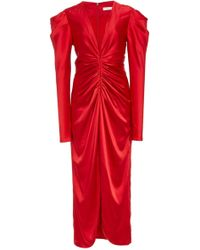 Jonathan Simkhai - Satin Midi Dress - Lyst