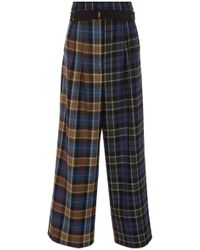 Tibi - Stella Pleated Pant With Elastic Belt - Lyst