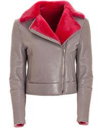 Genny - Pink Fur Lapel Jacket - Lyst