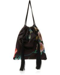 Attico - Printed Velvet Pouch Bag - Lyst