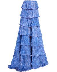 Rosie Assoulin - Tiered Plissé Ball Skirt - Lyst