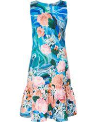 Isolda   Printed Flared Hem Dress   Lyst