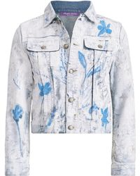 Ralph Lauren - Cropped Trucker Painted Jacket - Lyst