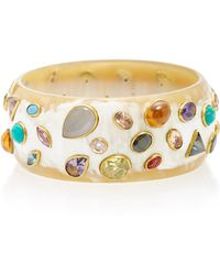 Ashley Pittman - Urujuani Horn Multi-stone Bangle - Lyst