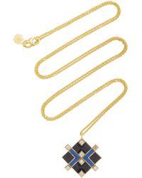 Amrapali - Mosaic 18k Gold And Enamel Necklace - Lyst