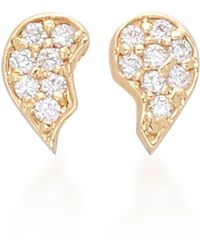 Shahla Karimi - Bff 18k Gold And Diamond Earring Set - Lyst