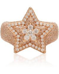 Bee Goddess - Sirius 14k Gold Diamond Ring - Lyst