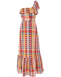 Carolina K - Una One Shoulder Silk Dress - Lyst