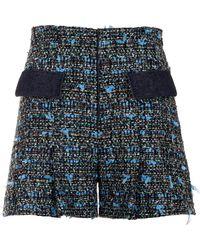 Genny - Blue Aluminum Shorts - Lyst
