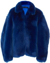 Sally Lapointe - Oversized Faux Fur Jacket - Lyst