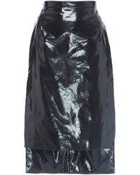 N°21 - Gilda Leather Pencil Skirt - Lyst