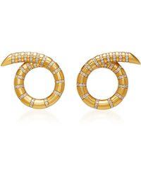 Jemma Wynne - Yellow Gold Aria Coil Earrings - Lyst
