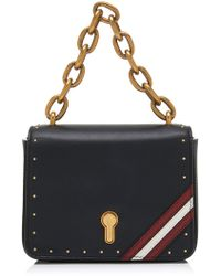 Bally Cathy Studded Leather Shoulder Bag Lyst