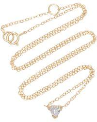 Shahla Karimi - Trillion 14k Gold Moonstone Necklace - Lyst