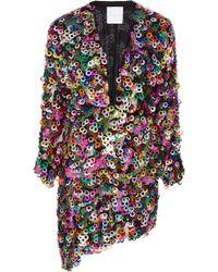 Markarian - M'o Exclusive Paillette Mini Wrap Dress - Lyst