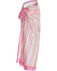 Emilio Pucci - Printed Cotton-gauze Pareo - Lyst