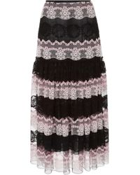 Giambattista Valli - High Waist Midi Skirt - Lyst