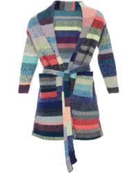 The Elder Statesman - Kids Striped Cashmere Robe With Teddy Bear - Lyst