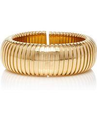 Sidney Garber - 18k Yellow Gold Domed Cuff - Lyst