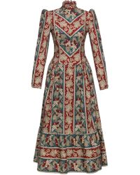 Lena Hoschek - Prairie Patterned Cotton Dress - Lyst