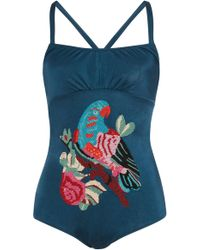 Anna Sui - Take Flight Swimsuit - Lyst