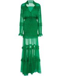 Alexis - Sinclair Ruffled Silk-chiffon Maxi Dress - Lyst