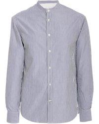Officine Generale Gaspard Candy Stripe Shirt - Blue