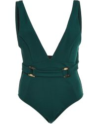 Suboo - Jungalow Belted One-piece Swimsuit - Lyst