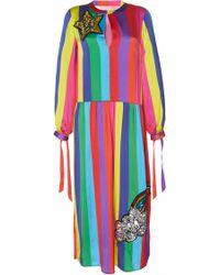 Mira Mikati - Sequin Monster Rainbow Dress - Lyst