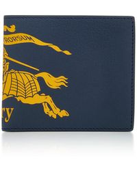 Burberry - Printed Textured-leather Wallet - Lyst